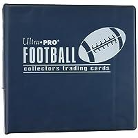 Álbum de tarjetas de fútbol Ultra Pro BLUE (carpeta de anillas D de 3 pulgadas) y una caja sellada de 9 hojas de almacenamiento de bolsillo (100 páginas).