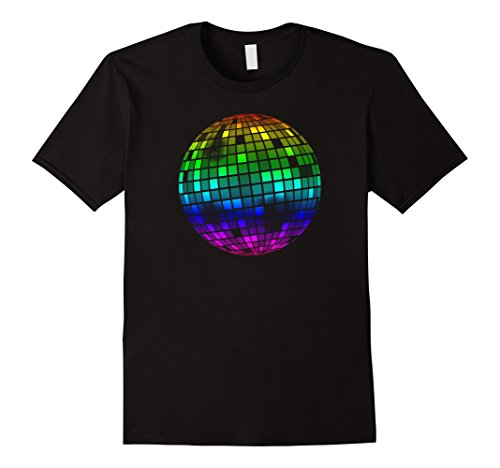 Mens Disco Ball Vintage Retro Dance Discoteque T-Shirt Large (Disco Shirts Mens)