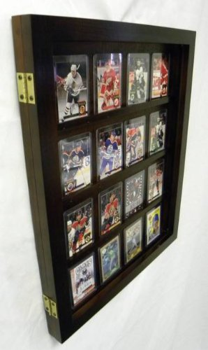 20 Baseball Card Displays Case Glossy Black P375b