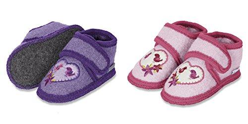 Sterntaler Kinder Winter Hausschuhe Gr. 21-22, Fb. 653 violett