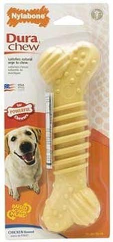 Dura Chew Plus Bone Dog Toy - Chicken Flavor - Dura Chew Plus Bone