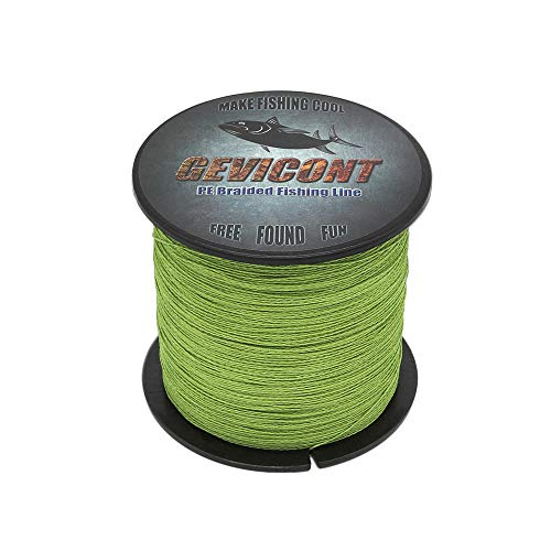 - GEVICONT Braid Line Cast Farther Fishing Accessories Weaves PE 4-Strand 328yards 547yards 1094yards 10lb to 100lb Multiple Colors Available for Saltwater & Freshwater Fishing