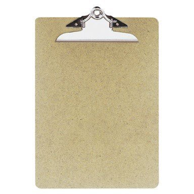 HQ Advance Products Masonite Clipboard, Letter Size 9 x 12.5 Inch with Standard Clip (04004), Colors May Vary