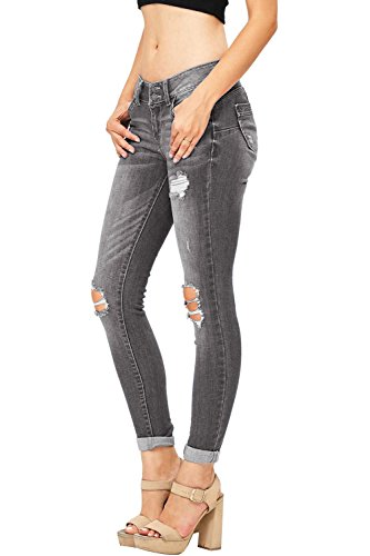 Lueyifs Femme Jeans Jeans Lueyifs Gris Femme Gris Lueyifs dWfw7Opq