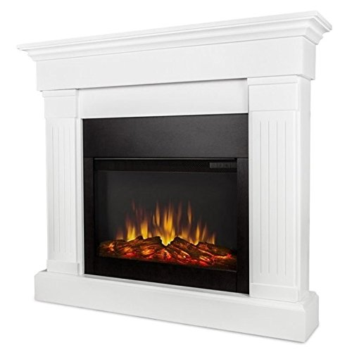 Real Flame 8020E-W 8020E Crawford Electric Fireplace, White by Real Flame