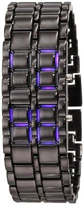 GGI International MLEDLAVABB 25 MM Stainless Steel Black Watch Bracelet.