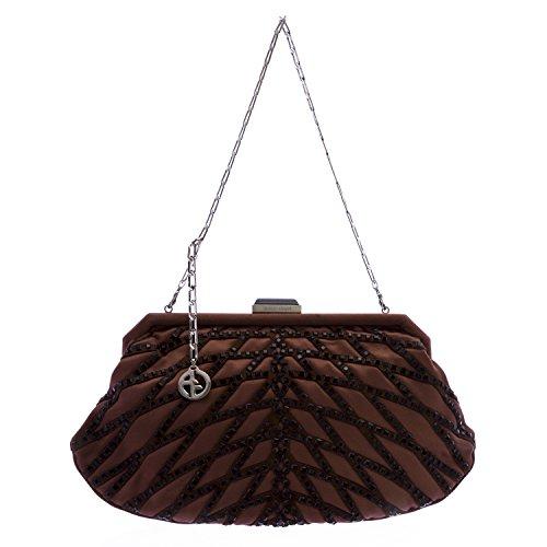 Giorgio Armani Women's Rhinestone Evening - Brown Bag Armani