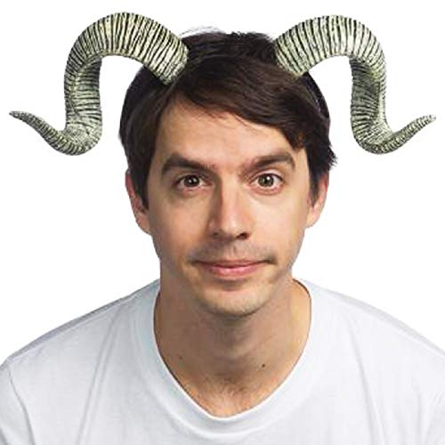 HMS Unisex-Adult's Supersoft RAM Horns, Gray, one