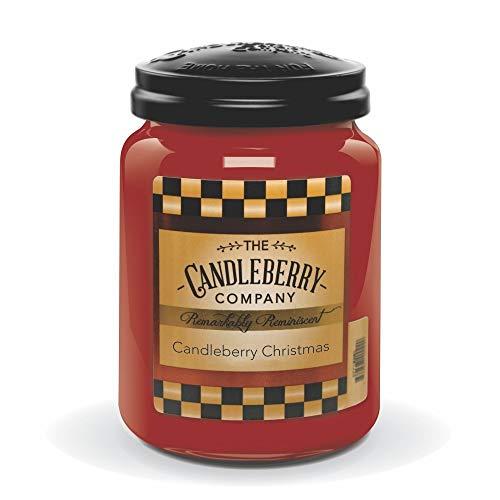 26 Christmas Ounce Jar - Candleberry Christmas, Premium Fine Fragrance Candle The Home, Large Glass Jar, 26 oz