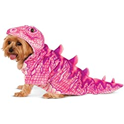 Rubies Costume Company Pink Dino Hoodie for Pet, Rosado, XS