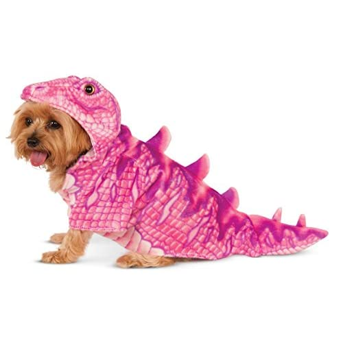 Pink Dino Hoodie for Pet, Large