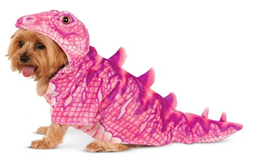 Pink Dino Hoodie for Pet, Medium