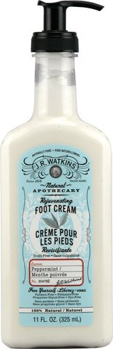 J. R. Watkins Foot Cream Rejuvenating Peppermint -- 11 fl oz - 2pc (Cream Foot Watkins Rejuvenating)