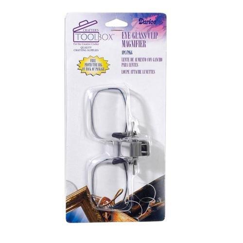 Darice 1172-66 Eye Glass Clip Magnifier with 2X - Uk Eye Glasses