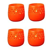 Biedermann & Sons Citronella Lantern Candles (Box of 4), Orange