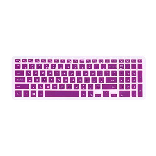 FORITO Keyboard Cover Compatible 15.6 Inch Dell Inspiron 15 3000 Series/Dell Inspiron 15 5000 7000 Series/Dell Inspiron 17 Series [Numeric Keypad]-Purple