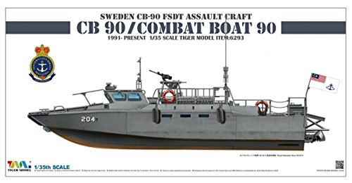 Tiger Model 1/35 Sweden CB-90 FDST Assault Craft CB 90/Combat Boat 90 6293