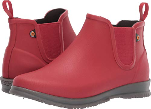 Comfortable Rubber Boots - Bogs Women's Sweetpea Boot Rain Boots Red 8