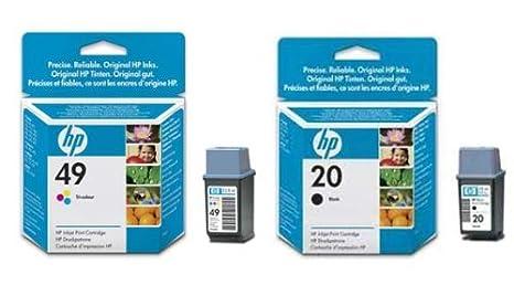 2 Original cartuchos de tinta para impresora para HP DeskJet 656 C ...