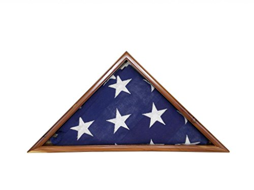 Solid Aromatic Cedar Flag Case for 3 x 5' Nylon Flag, Military Missions/State Capital Size, USA Made ()