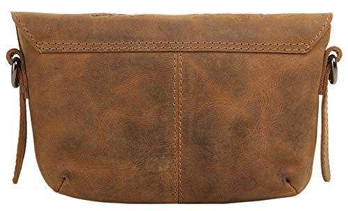 Landläder axelväska brun äkta läder axelväska, handväska