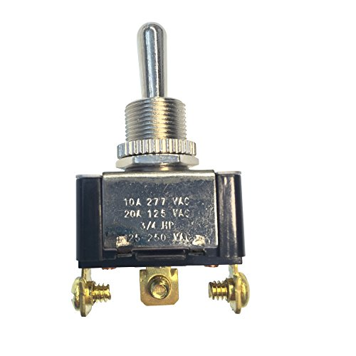 Gardner Bender GSW-117 Heavy-Duty Momentary Toggle Switch, 20A 125VAC, Single Pole Double Throw,3P SPDT(ON)-OFF-(ON)