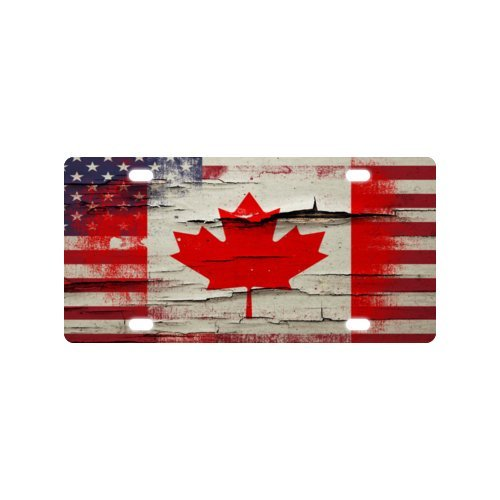 Canada Star Trek Costumes (Canada National Flag License Plate with Personalized and Novelty -12