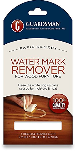 Guardsman Water Mark Remover Cloth - Erase White Rings & Haze Caused By Moisture and Heat - Reusable - 405200 (4)