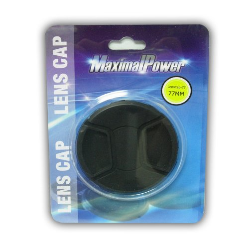 Maximal Power CA LENCAP77 Snap-On Cap for Lens - 77mm (Black)