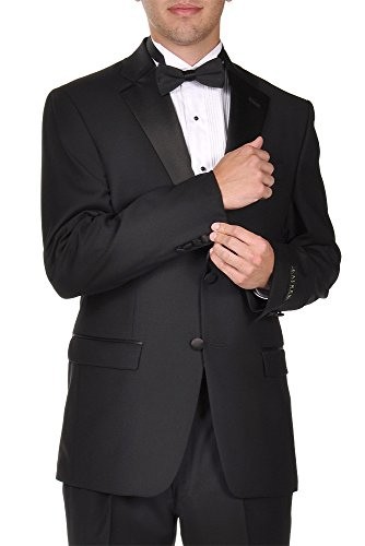 Ralph Lauren Men's Super 130's Wool Two Button Black Tuxedo - 44 Short (Wool 130's Super)