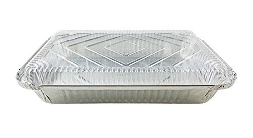 Handi-Foil 4 lb. Oblong Aluminum Entrée Dinner Food Storage Pan w/Dome Lid (pack of 50)