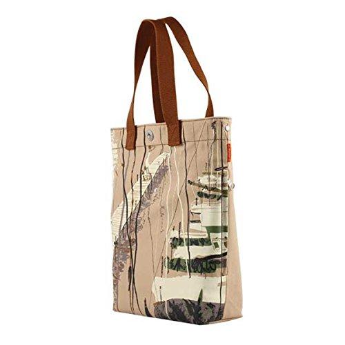 Borsa Di Tela Da Donna Borsa Da Spiaggia Grande Borsa A Tracolla Shopper Motif Molo Vegan Bag Biologico A4 Stile Uni A100013