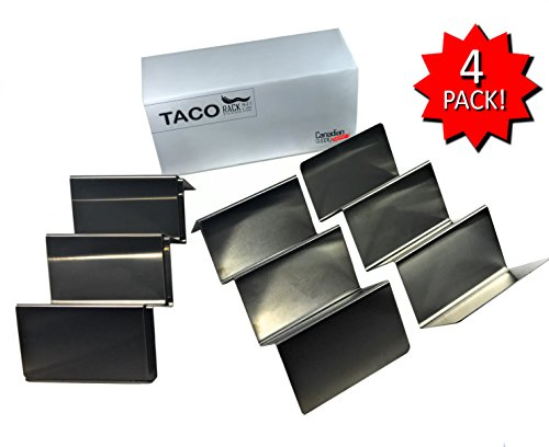 4 Pack - Stainless Steel - Taco Holder Stand | Finally Taco Tuesday Everyday | by CSD