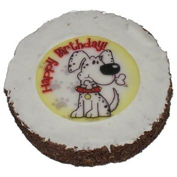 Dog Birthday Cake Hatchwells Gift Present Treat 4in Dia X 3 Thick Amazoncouk Pet Supplies
