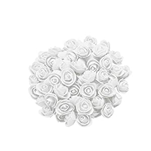 Feccile 200Pcs Roses Artificial Flowers - Big Foam Rose Artificial Flower Head for DIY Wedding Bouquets Centerpieces Bridal Shower Party Home Decorations 72