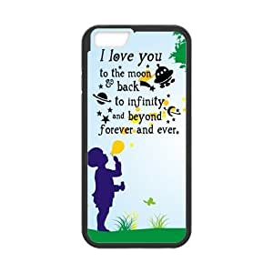 iPhone 6 Protective Case - I Love You To The Moon And Back Hardshell Cell Phone Cover Case for New iPhone 6
