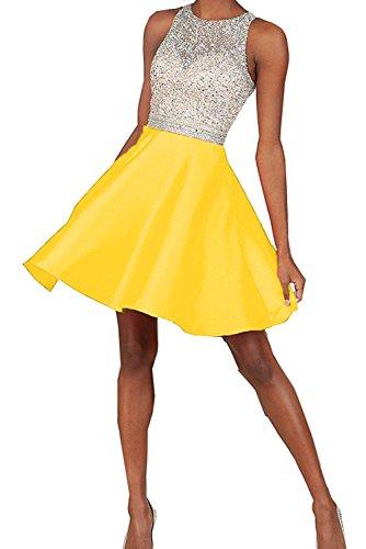 Vestidos de novia elegante en forma de corazón de la Toscana por la noche la gasa vestido corto fútbol vestidos fiesta dorado