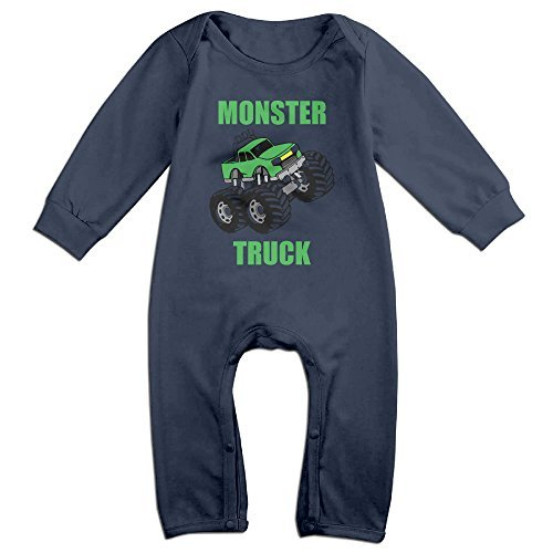 MoMo Monster Truck KidsToddler Romper Bodysuit Outfits 12 Months Navy