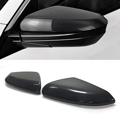 Pair Carbon Fiber Pattern Side Door Half Top Mirror Cover Trims Fit for 2016-2018 Honda Civic