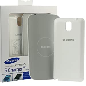 Samsung Official Galaxy Note 3 S Charger Kit (Wireless Charging Pad + Cover White)