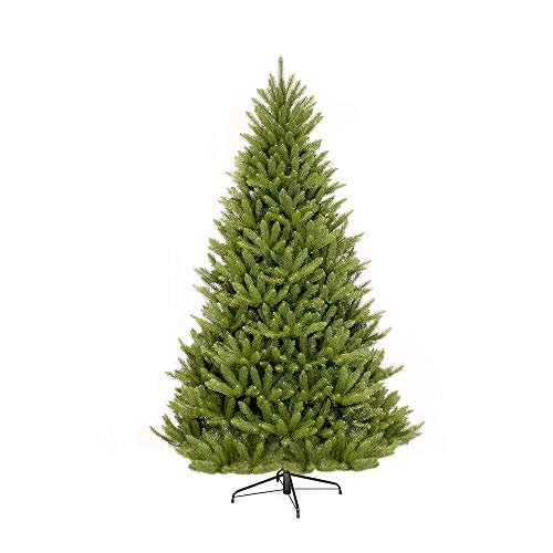 Puleo International 7-Foot Fraser Fir Artificial Christmas Tree, 7 Ft, No No Lights - Un-Lit