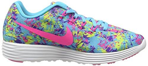 Nike Ladies Lunar Tempo 2 Print Scarpe Da Corsa Blu (406)