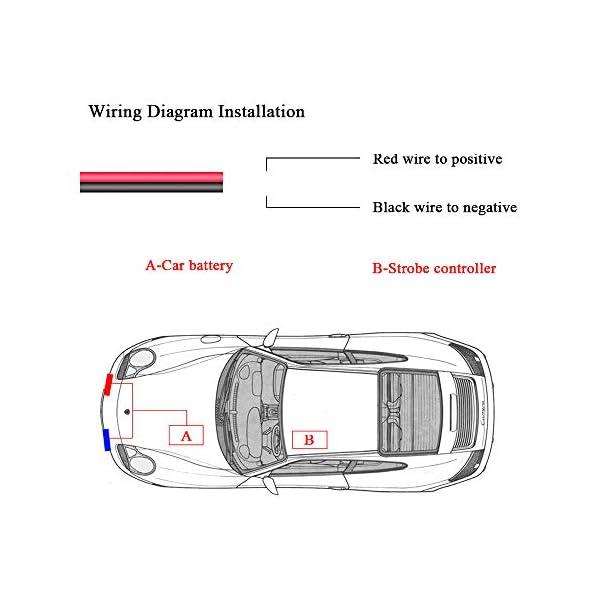 4x4 LED luz de advertencia estroboscópica DC12V intermitente de emergencia lámpara de baliza remoto inalámbrico advertencia estroboscópica luz externa de emergencia para camión caravana Camper 5
