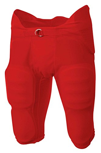 A4 Boy's Flyless Integrated Football Pant Scarlet ()