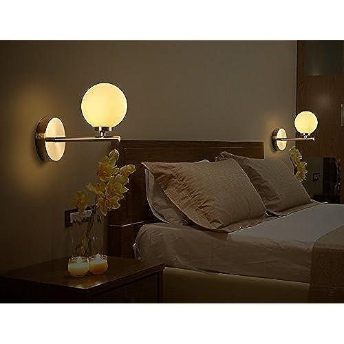 GUOQ Moderne Minimaliste Verre Balle Luminaire Applique Murale Créatif  Design Créatif Fer Couloir Lampe Murale Pour Pour Décoration De Maison ...