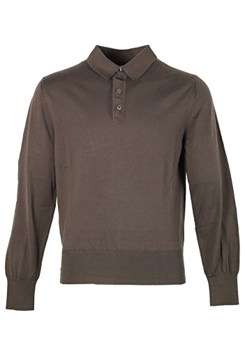 CL - Tom Ford Green Long Sleeve Polo Shirt Size 52/42R - Polo Ford Tom