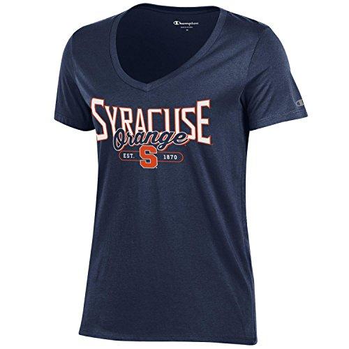 Champion NCAA Women's University Short Sleeve Tagless Lady's V-Neck Tee, Syracuse Orange, X-Large