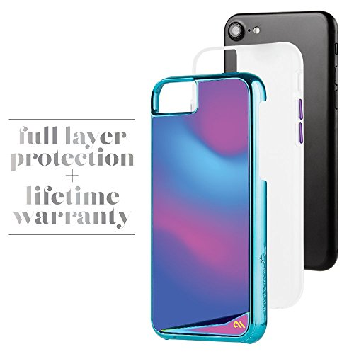 Case-mate humeur Changement de couleur métallique Boutons protection anti-rayures Coque pour iPhone 7S