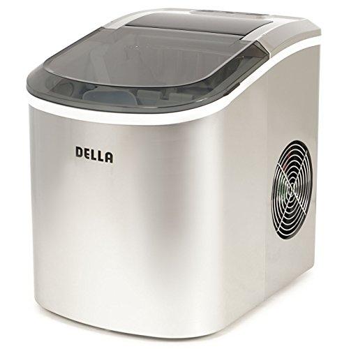 Della Portable Ice Maker w/Easy-Touch, 2-Selectable Cube Siz