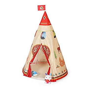 Steegic Kids Play Tent Indian Story Teepee for Childrenu0027s Family and Sleepover Parties  sc 1 st  Amazon.com & Amazon.com: Steegic Kids Play Tent Indian Story Teepee for ...